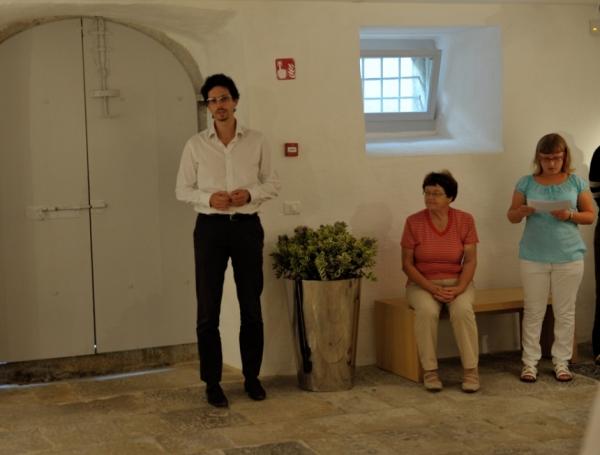Razstavi je zaželel srečno pot direktor Pokrajinskega muzeja Koper, dr. Luka Juri (foto: Borut Lozej)