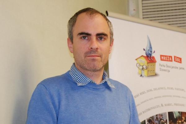 Meteorolog Gregor Vertačnik iz Agencije RS za okolje (foto: Olga Knez)