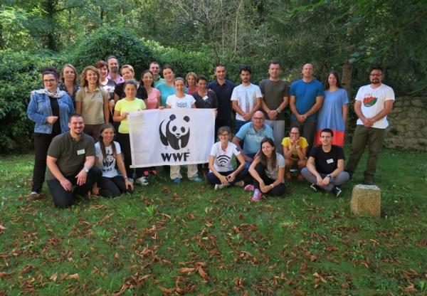 Udeleženci in snovalci delavnice WWF (foto: Darja Kranjc)