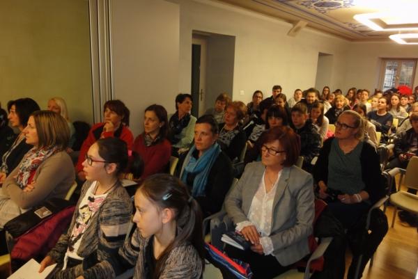 Udeleženci zaključne predstavitve raziskovalnega dela MŠ PŠJ (foto: Tjaša Kalčič)