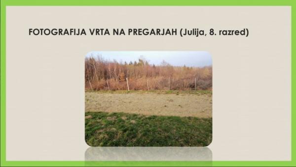 Učenci OŠ Rudija Mahniča - Brkinca Pregarje so vrtove tudi foto dokumentirali