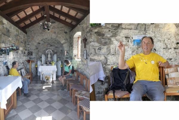 Vlado Šabec iz Kala nam je cerkvico sv. Urbana pokazal tudi odznotraj (foto: Minka Osojnik in Darja Kranjc)