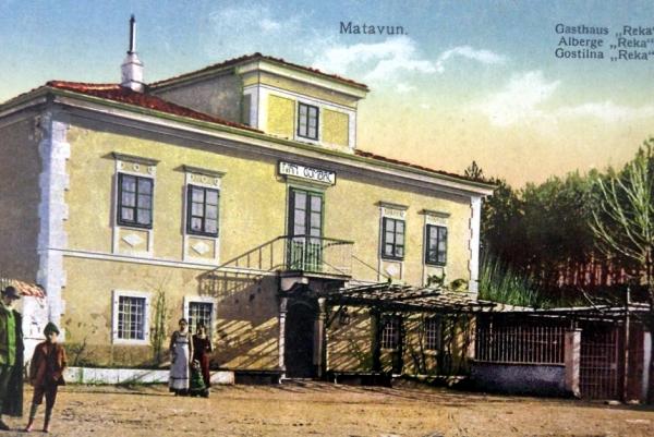 Razglednica gostilne Ivana Gombača - Naneta iz konca 19. stol.